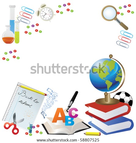 Back to School Design - Vector - stock photo