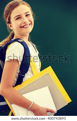 Back to school, education - young and beautiful schoolgirl  - stock photo