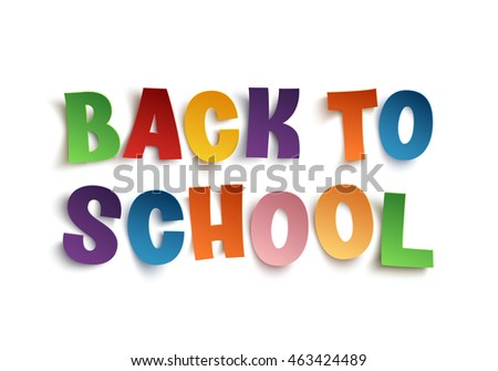 Back To School hand drawn typeface isolated on white background.