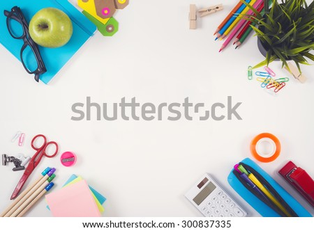 Back to school hero header - stock photo