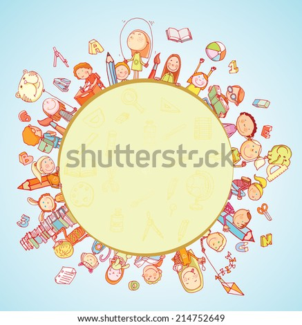 Back to school, icons, illustration. - stock photo