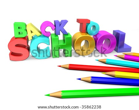 back to school in 3d rendered
