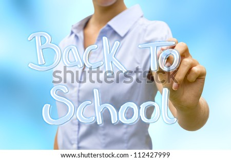 Back to school modern concept - stock photo