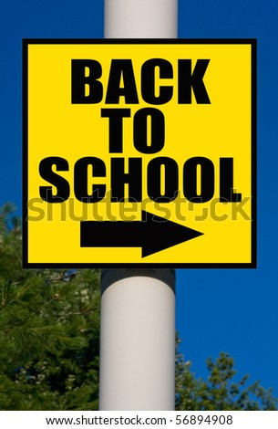 Back to school sign. - stock photo
