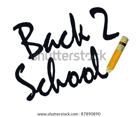 Back to School Small Worn Out Pencil - stock photo