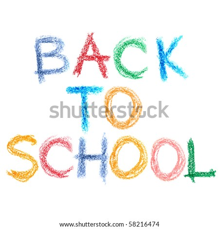 Back to school text over white background - stock photo