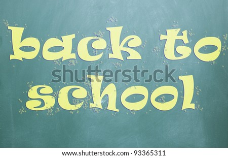 back to school title - stock photo