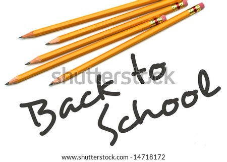 Back to School type (public domain free type) with number two pencils #2. - stock photo
