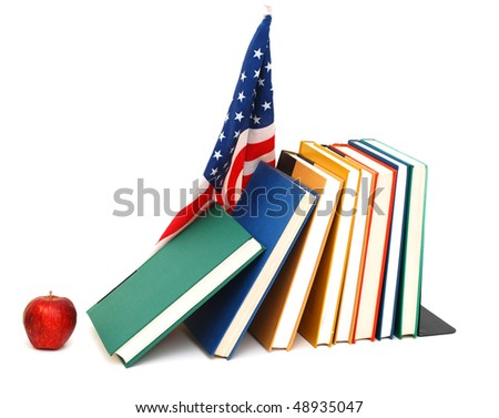 back to school with us flag - stock photo