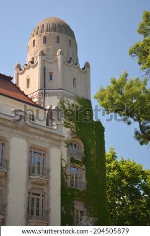 Back tower of Gellert bath - stock photo