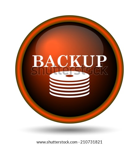 Back-up icon. Internet button on white background.  - stock photo