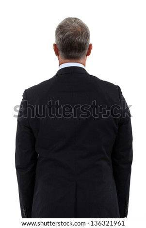 Back view of a mature businessman - stock photo