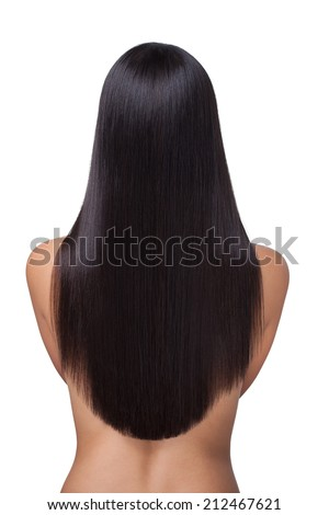 Long Straight Hair Back View