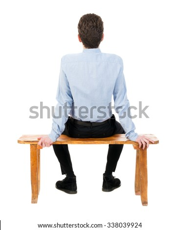 Back View Business Man Sitting On Stock Photo 338039924 ...