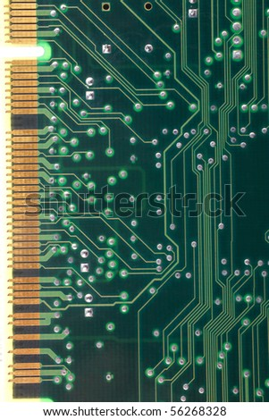 back view of computer plate as background - stock photo