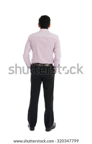 back view of indian business male - stock photo