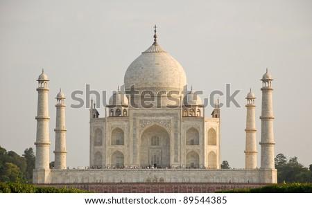 Back view of Taj Mahal, India - stock photo