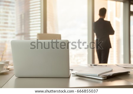 Office Desk Back View