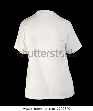 Back white t-shirt template (with clipping-path) - stock photo