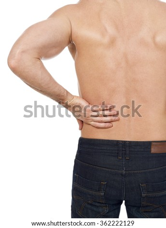 Backache - stock photo