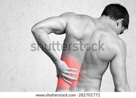 Backache, Pain, Back. - stock photo