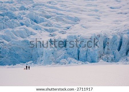 Backcountry Skiers at Portage Glacier