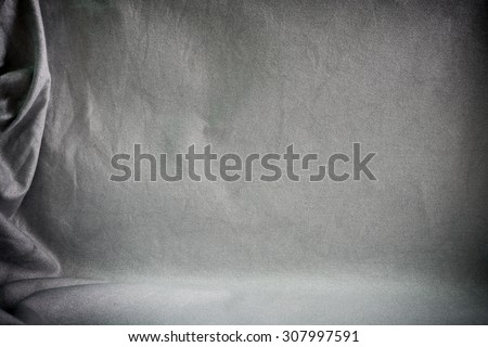Backdrop crumpled fabric texture, cloth background - stock photo