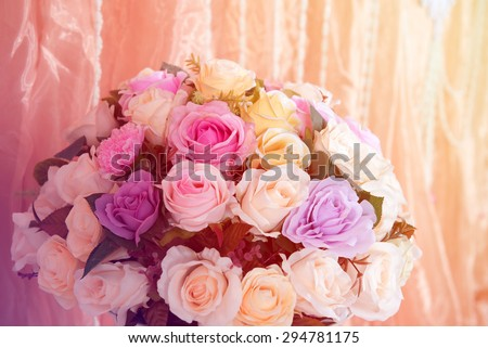 backdrop wedding - stock photo