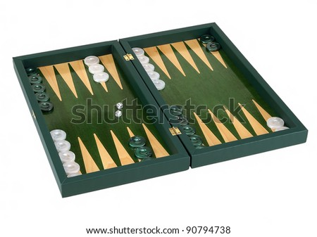 backgammon isolated on white background - stock photo