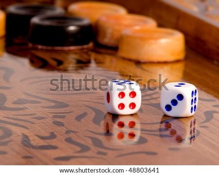 Backgammon most fascinating board game - stock photo