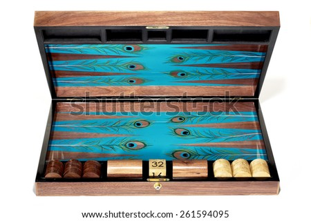Backgammon Set - stock photo