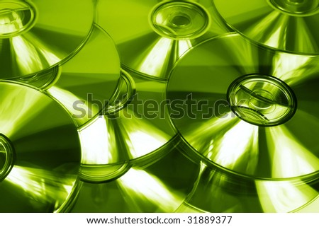 backgound of CD's - stock photo