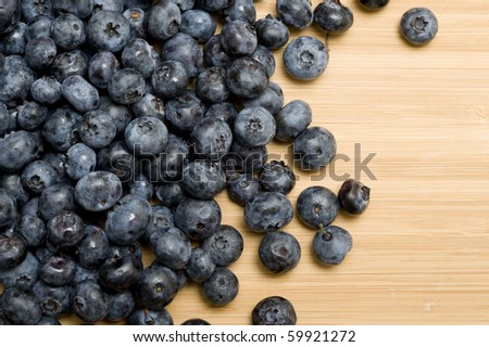 Backgound with sweet fresh blueberries