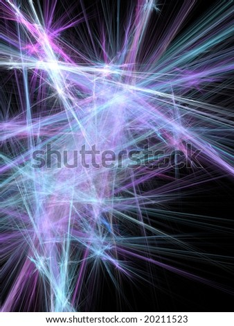 background abstract composition rendered fractal with lines and blurs