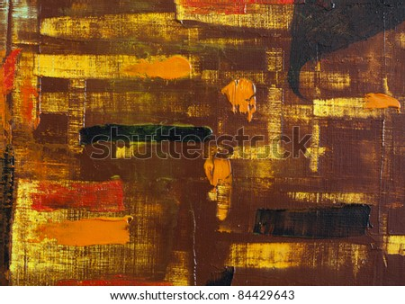 background abstract oil on canvas - stock photo