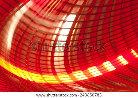 Background abstract technology illustration.  Light speed motion, fiber optics, futuristic colorful design. - stock photo