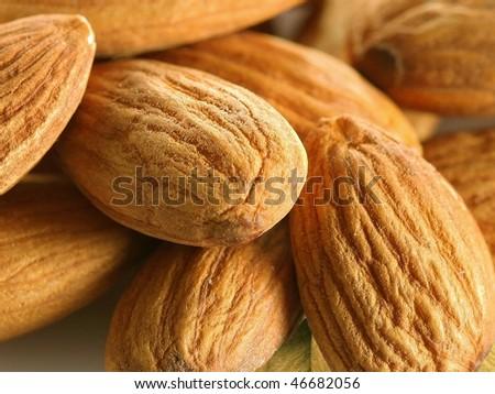 background almonds - stock photo