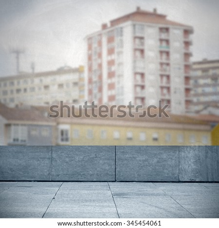 background and cityscape from the terrace - stock photo
