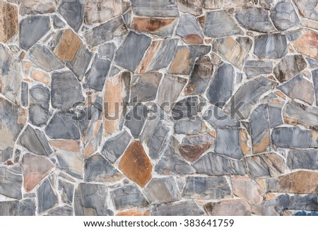 background and texture of decorative Slate Stone wall pattern - stock photo