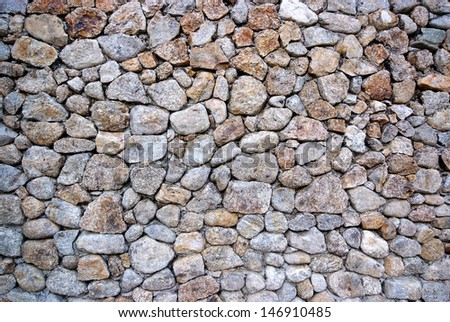 Background and texture of stone wall . - stock photo