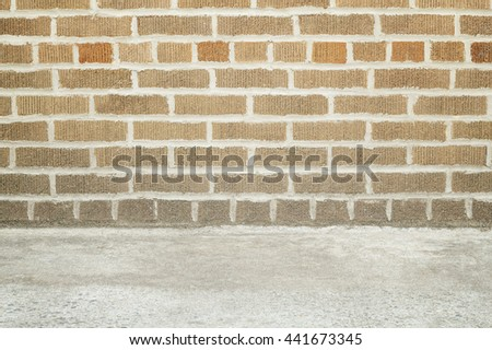 Background and texture with brick wall