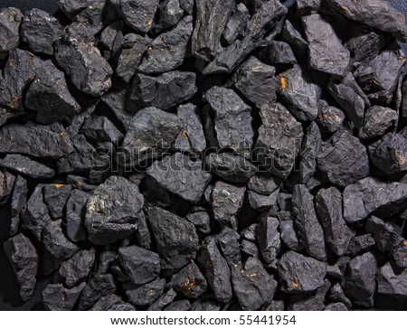 background and the texture of coal - stock photo