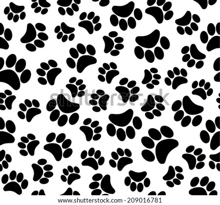 background animal footprints seamless pattern  - stock photo