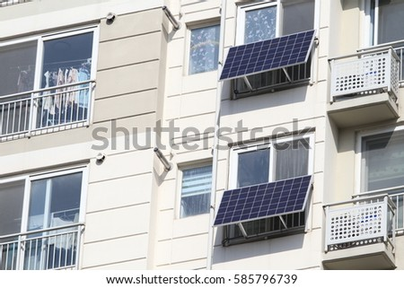 Background, Apartment solar power panel