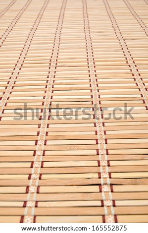 Background bamboo sticks with thread uniting