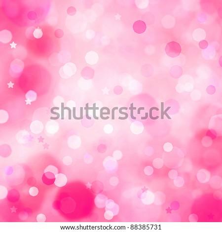 Background beautiful bokeh lights - stock photo