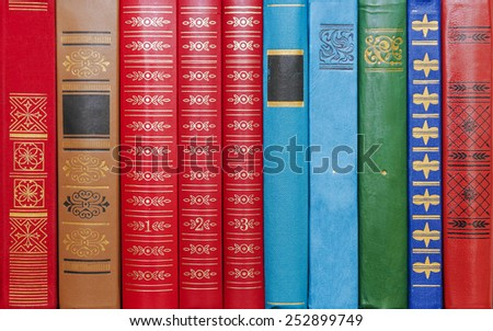 background bindings books - stock photo