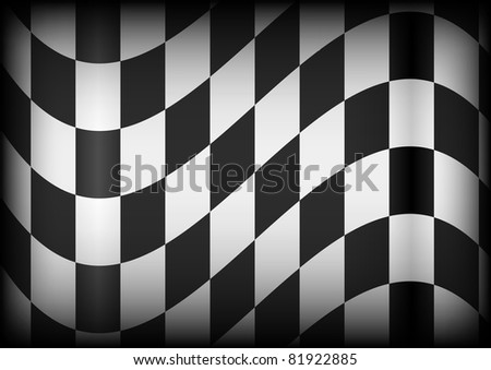 Background - Black and White Checkered Race Flag - stock photo