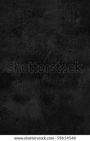 Background black plastered wall - stock photo