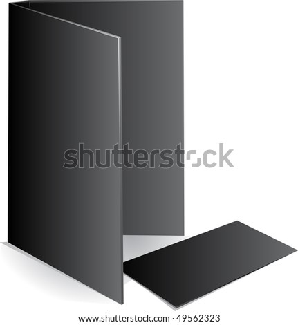 Background black visit card and document case. raster version - stock photo